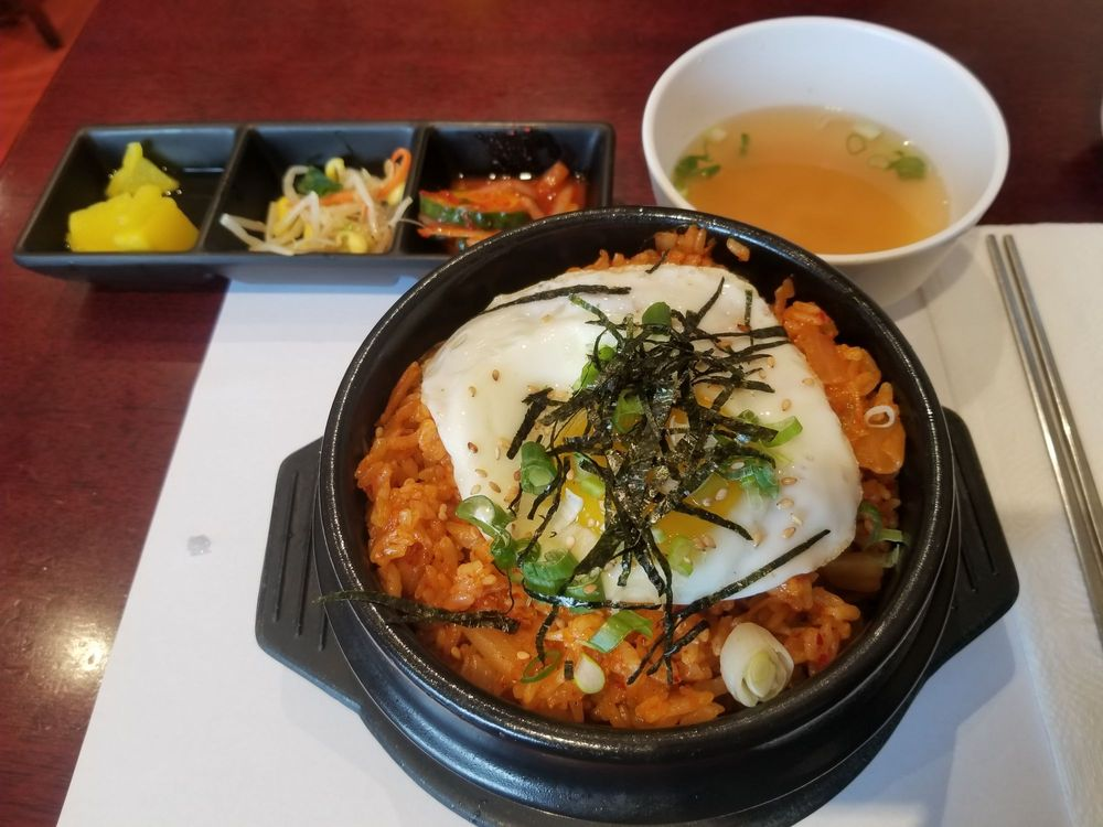Kimchi Fried Rice with Cheese