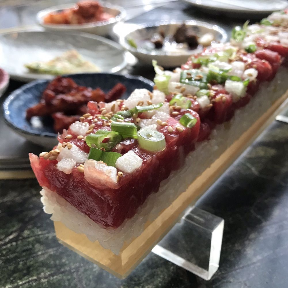 Beef Tartare Sushi
