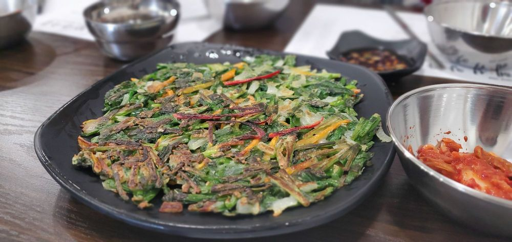 Korean Style Vegetable Pancake