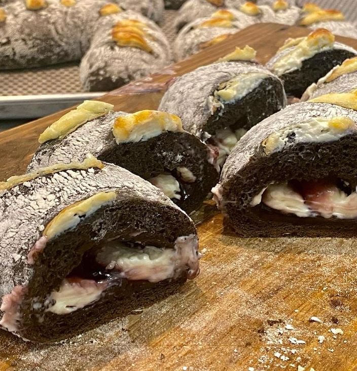 Squid Ink Blueberry Creamcheese Loaf