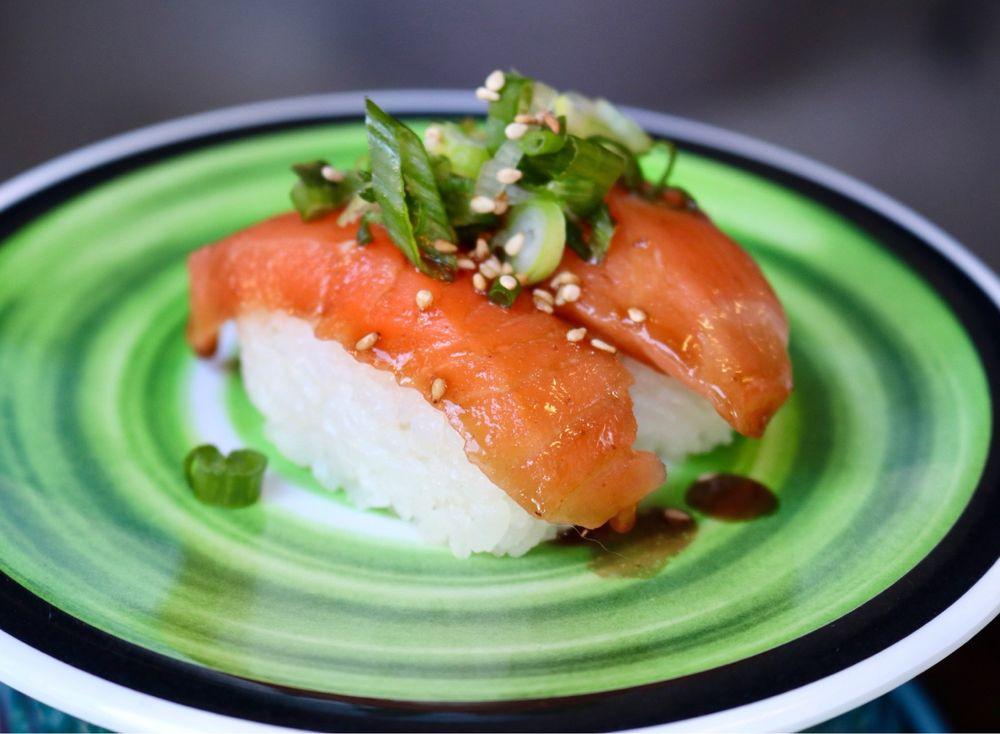 Garlic Ponzu Salmon Nigiri